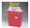 SharpStar™ In-Room™, Red Transparent -2 Gallon - Covidien - 1