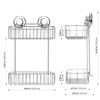 Shower Caddy - Hasko - 2-Tier -SHWR-MUH2R-3
