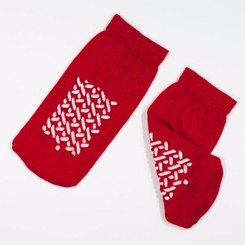 Slipper Socks - Dynarex - Double Sided - Small - Red - 1 - Pair - SOXD-2190-1