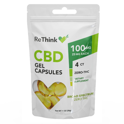 ReThink CBD GelCaps - 100 mg - 4 Count - Package