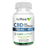ReThink CBD Sleep Support GelCaps - 750 mg - 30 Count - Bottle