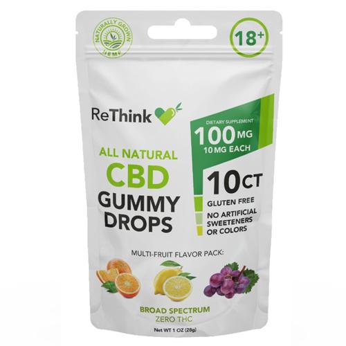 ReThink CBD Gummies - 100 gm - 10 Count - Package