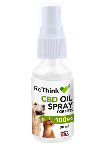 ReThink CBD Hemp Spray for Pets - 100 mg - 30 ml - Package